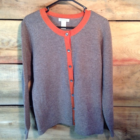 75542e9533 Orvis Sweaters - Orvis Button Front Cardigan Sweater Size Large